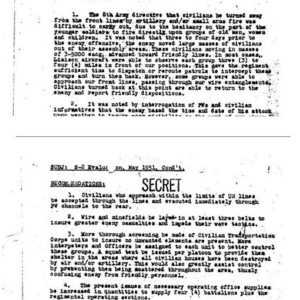 Evaluation (May 1951) from (Illegible) to the Commanding Officer of the 38th Infantry
