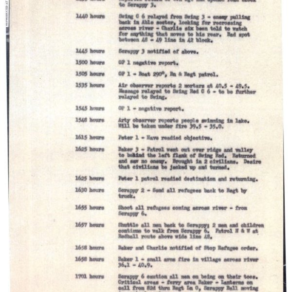 21 Communications Log of the 1st Battalion, 8th Cavalry Regiment (August 9, 1950)